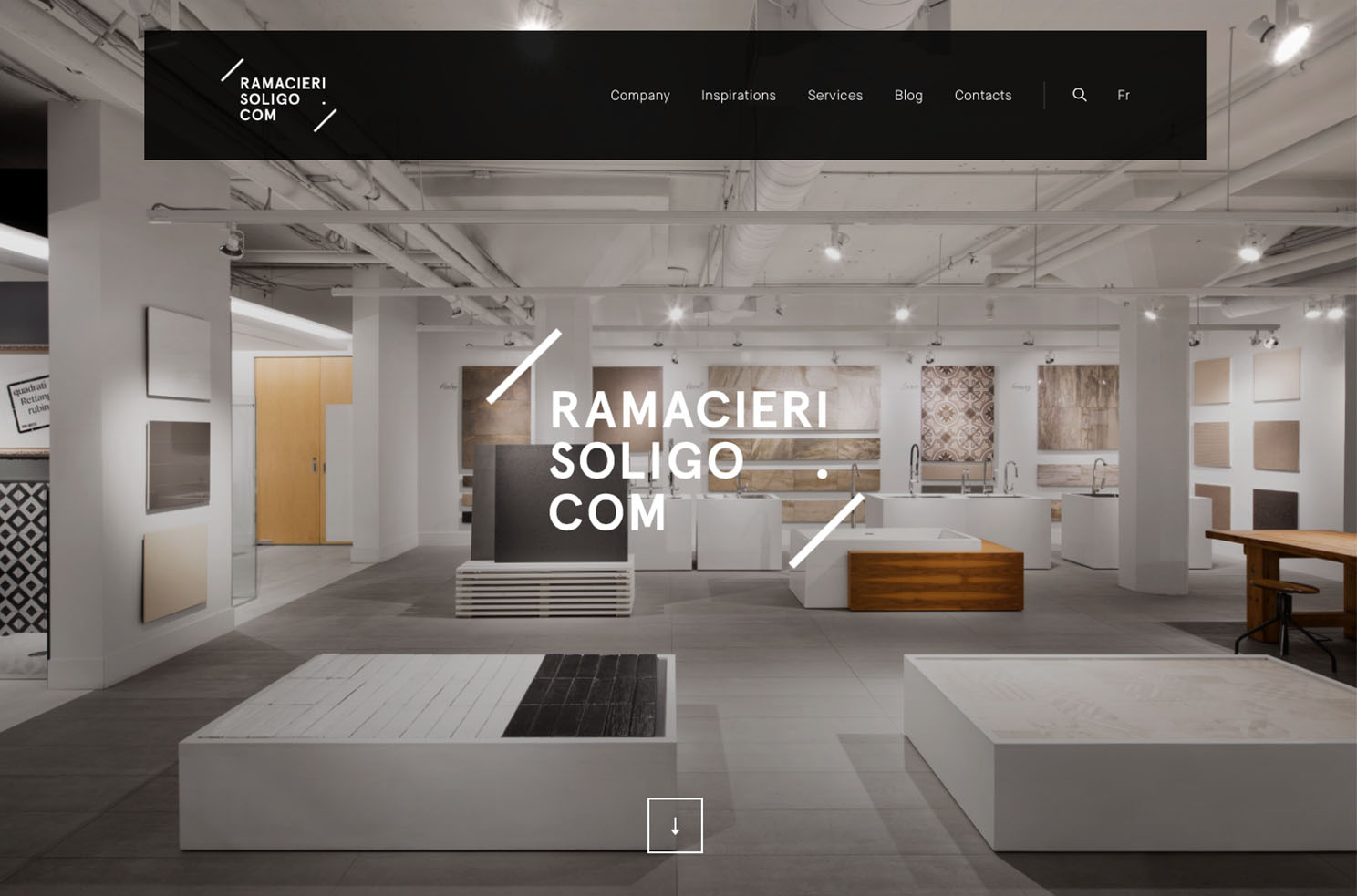 Ramacieri Soligo interior design website Marvellous agency