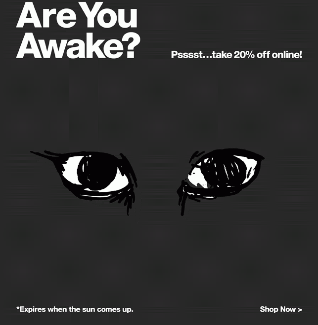 American Apparel are you awake? Urgency email Marvellous digital marketing agency