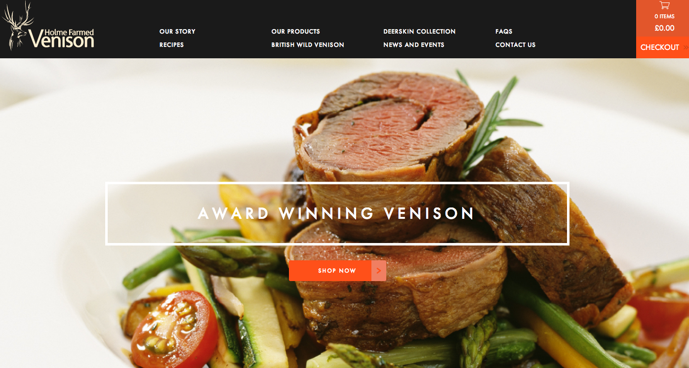 Homle Farmed Vension web page Marvellous digital marketing agency