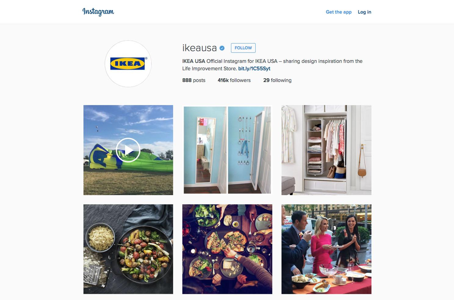 Ikea USA instagram Marvellous digital marketing agency