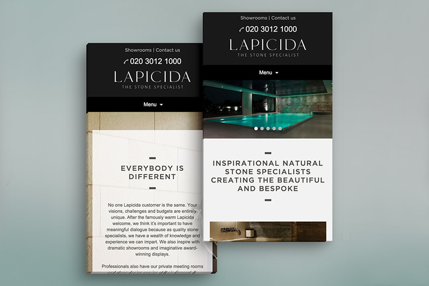 Lapicida gallery image by marvellous design agency leeds.
