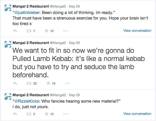 Mangal 2 Restaurant Tweets Twitter Marvellous digital design agency