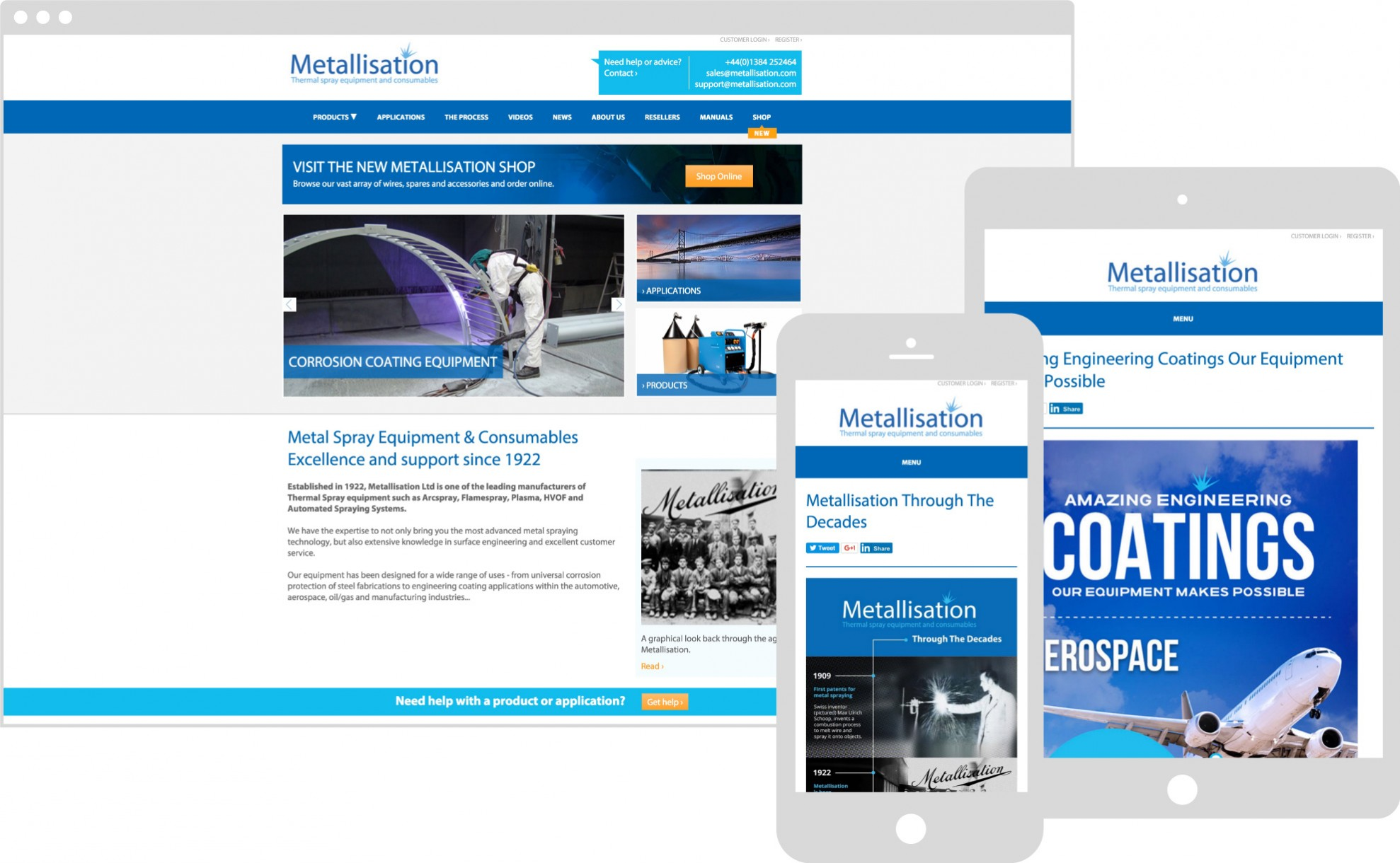 Metallisation Website case study, buy Marvellous web design agency