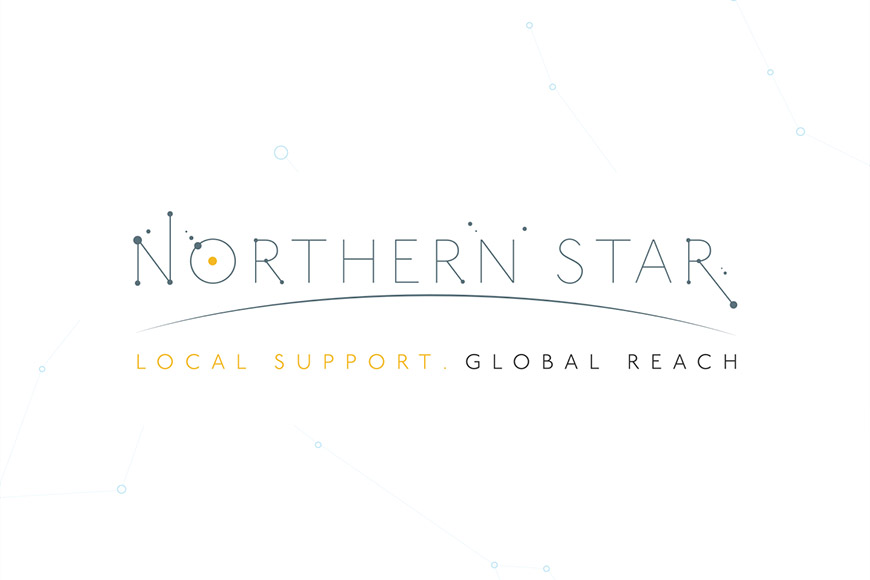 northern star gallery image of logo by marvellous design agency leeds.
