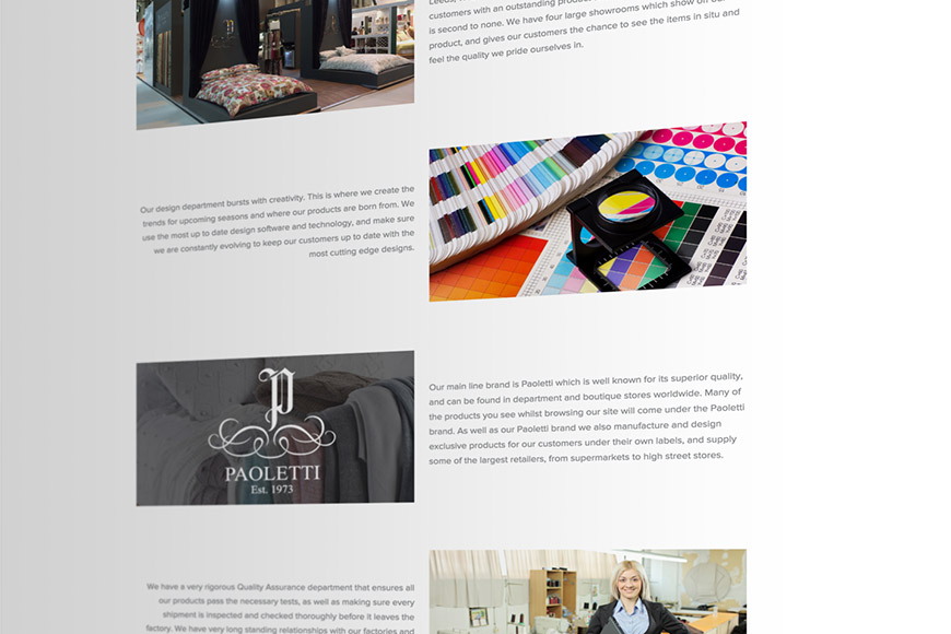 Riva gallery image of website by marvellous web design agency leeds