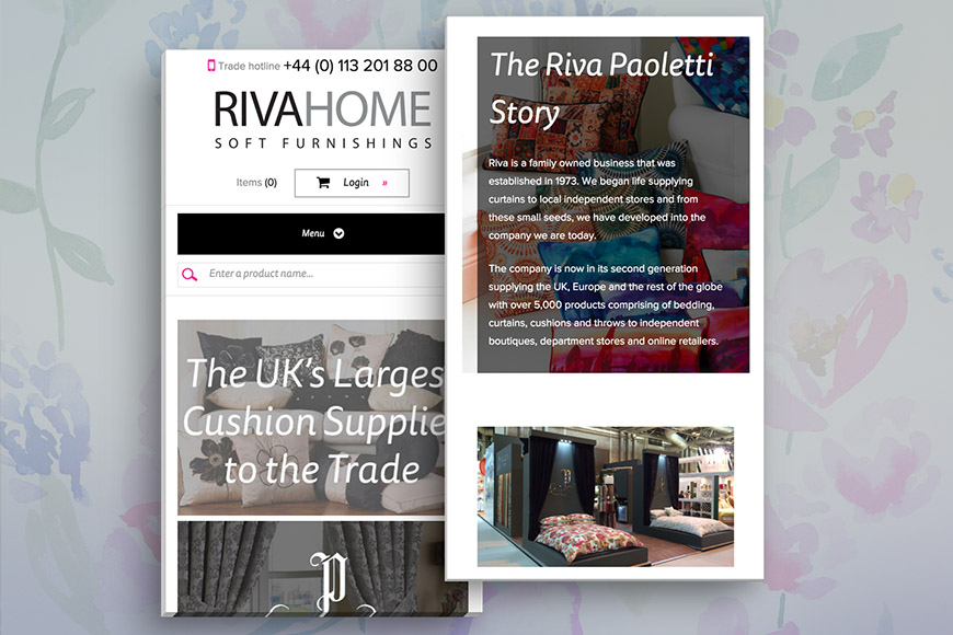 Riva gallery image by marvellous web design agency leeds