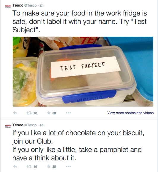Tesco tweets Twitter Marvellous digital design agency