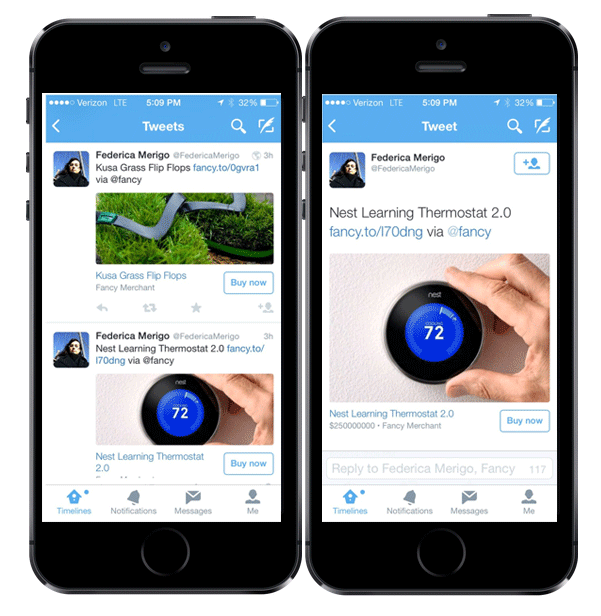 Twitter buy button on iPhone Marvellous digital marketing agency