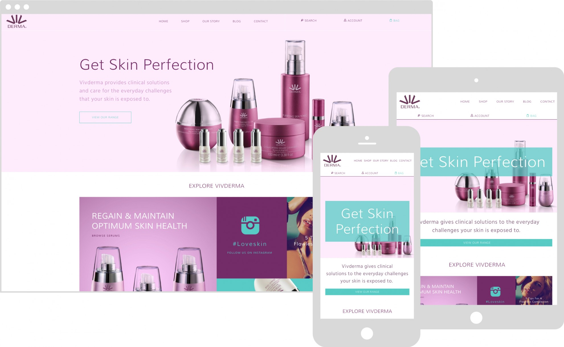 Vivderma Website case study, buy Marvellous web design agency