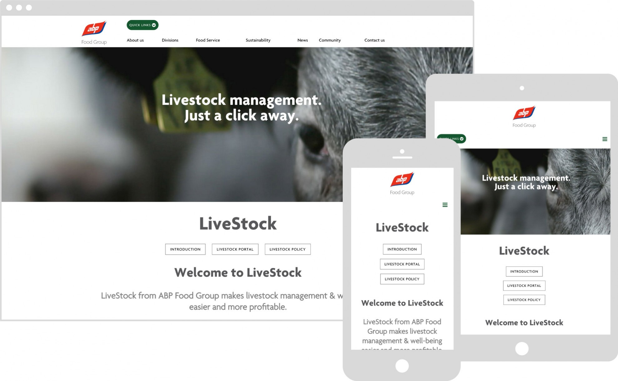 ABP livestock displaying on multiple devices