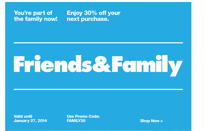 american apprel tone email friends & family Marvellous digital marketing agency