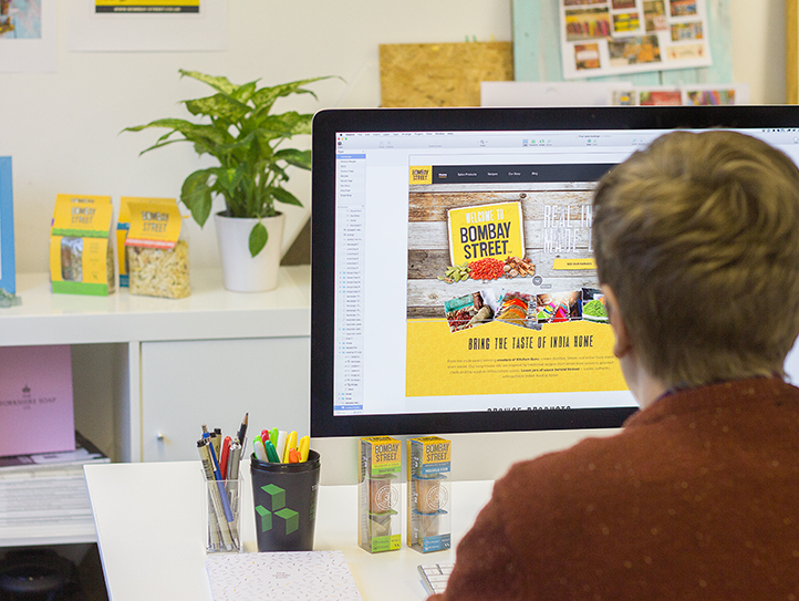 Bombay street being designed by shaun heath at marvellous web design agency leeds