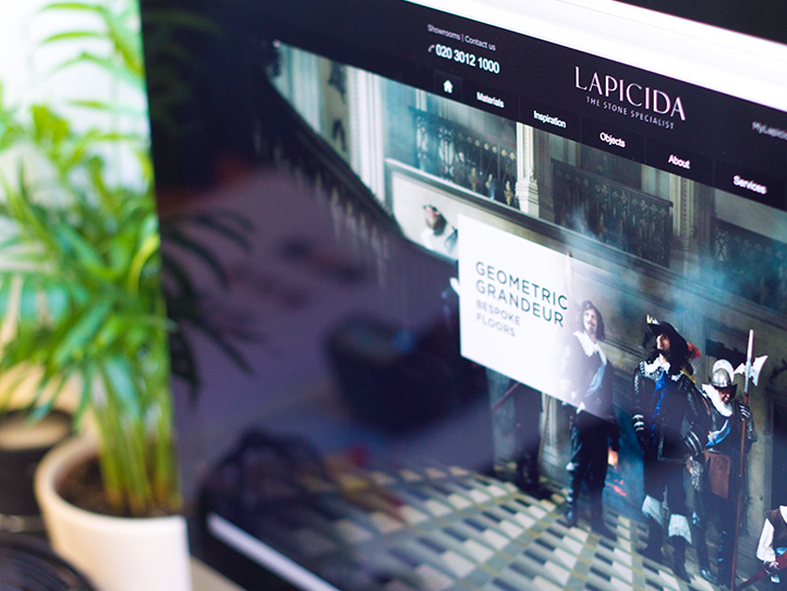 lapicida case study image for brochure site by marvellous web design leeds