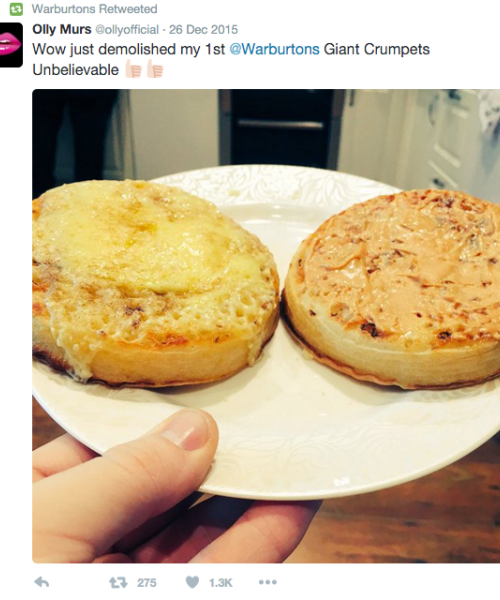 Ollie Murs crumpets instagram Marvellous digital marketing agency