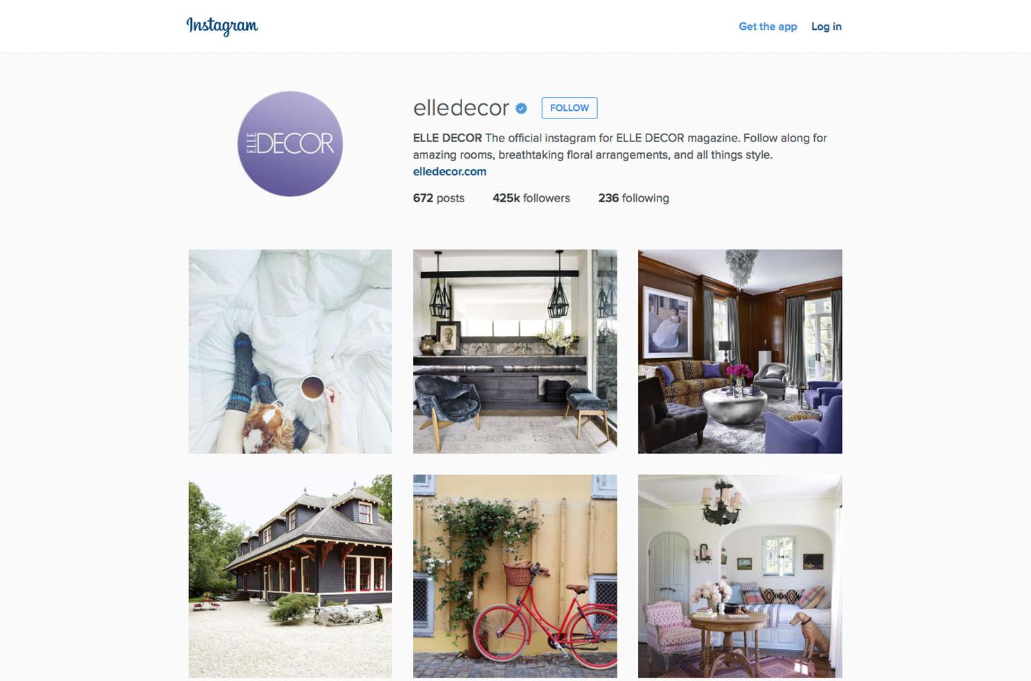 elle decor instagram Marvellous digital marketing agency