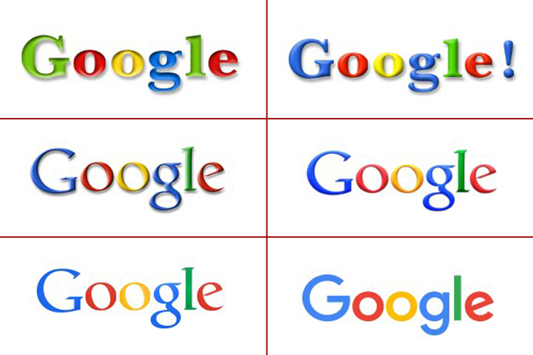 google logo evolution web design