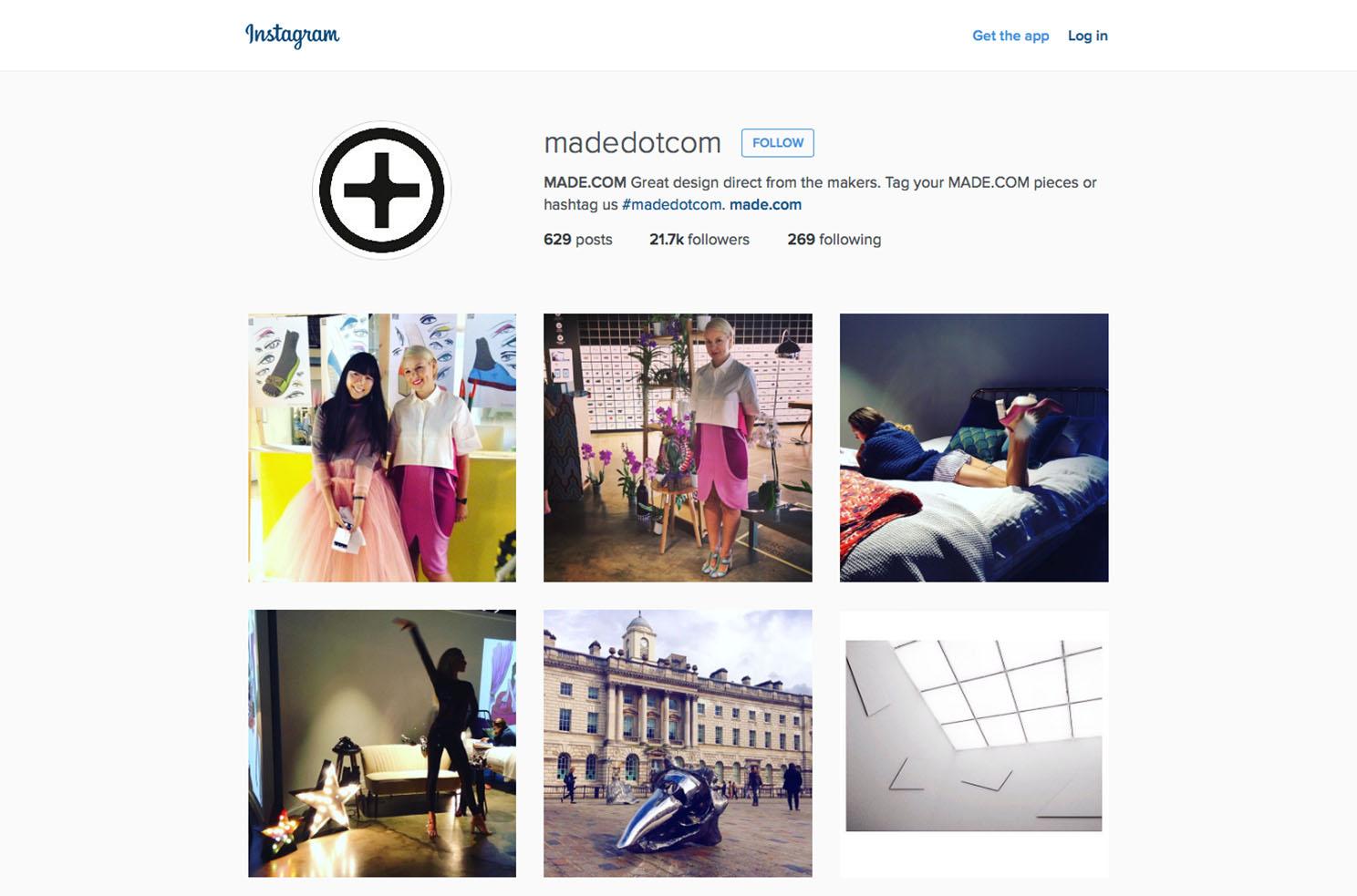made.com instagram Marvellous digital marketing agency