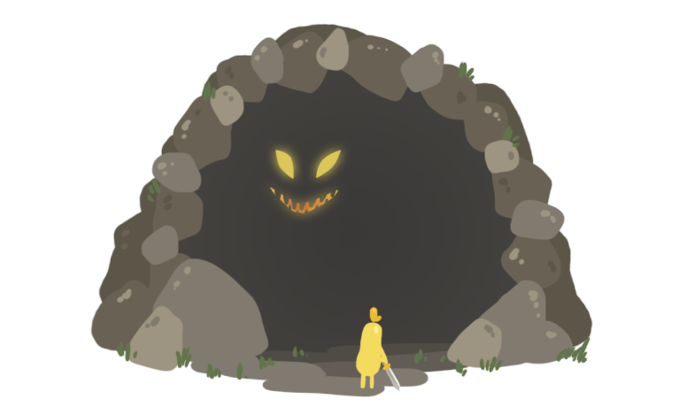 web design process 3 cave illustration