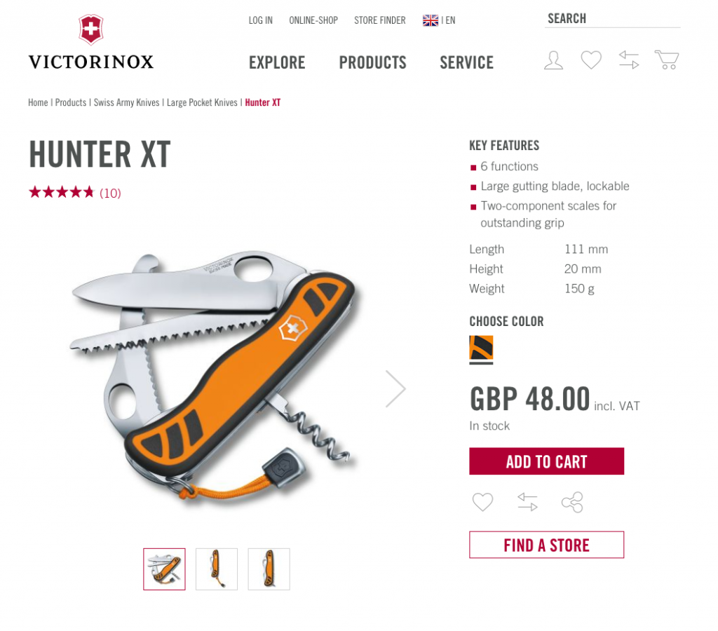 Victorinox eCommerce product shot Marvellous blog post