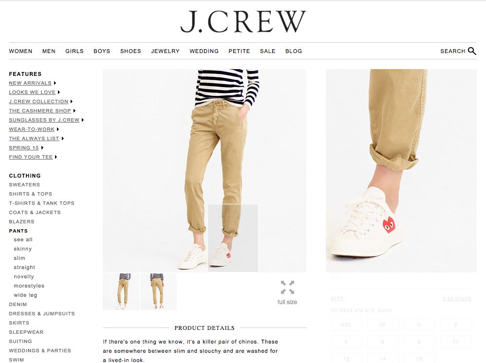 J Crew detailed product zoom example Marvellous agency