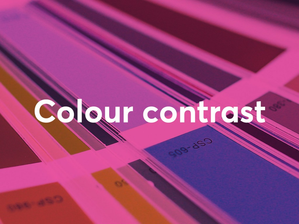 colour contract in web design