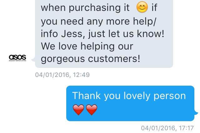 ASOS Customer Service on Twitter