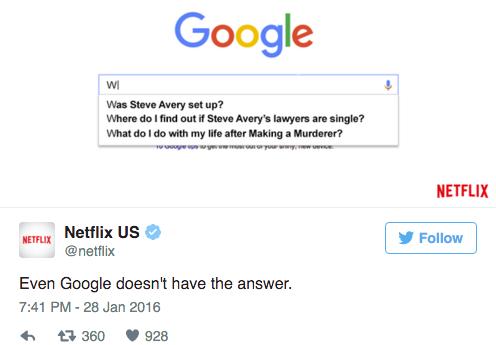 Netflix Funny Tweets
