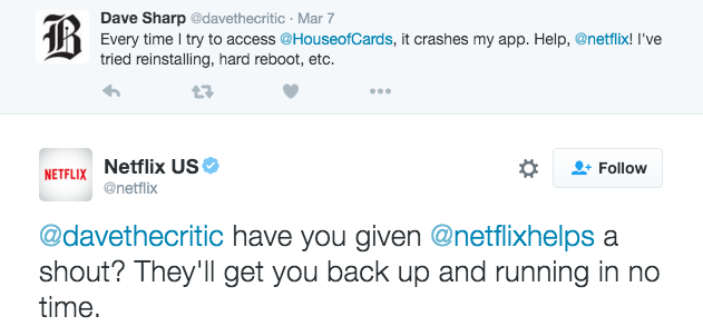 Netflix Customer Service on Twitter