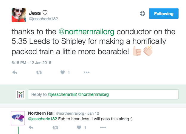 Northern Rail Customer Service