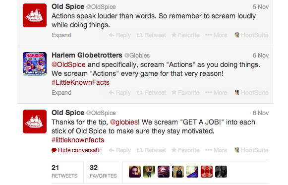 Old Spice Customer Service on Twitter