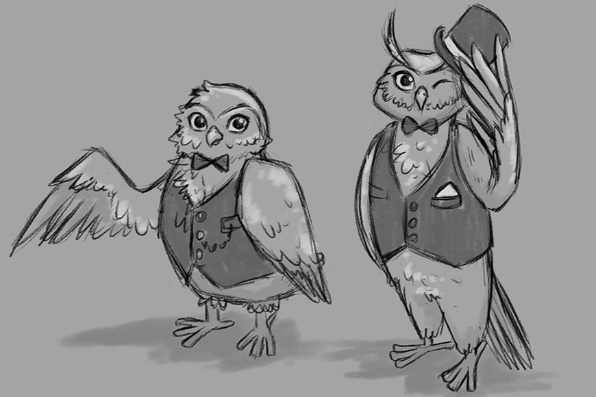 Luxury Flooring Owl Character Design