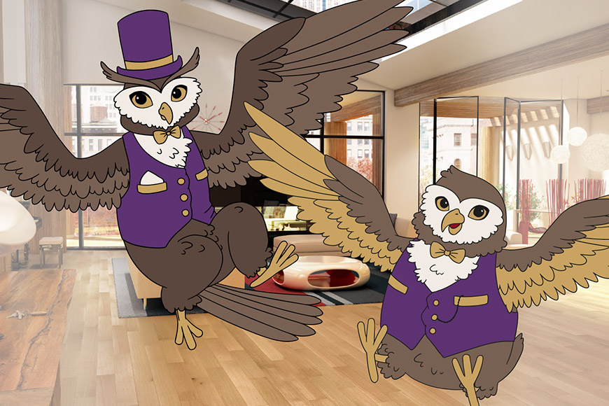 Luxury Flooring Owl Illustration