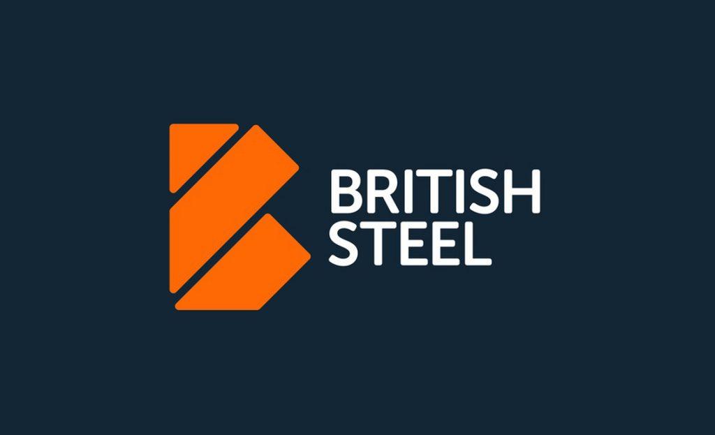 british steel new logo web design