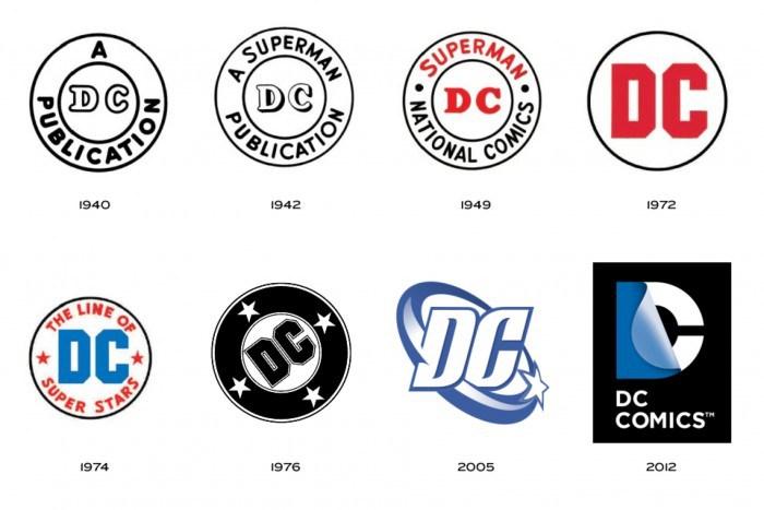 DC comics every logo