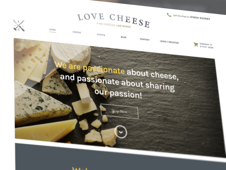 Love Cheese Website Screenshot