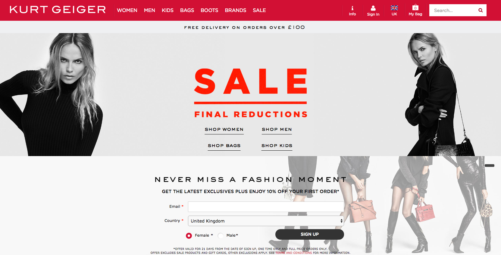 Kurt Geiger | Magento | Marvellous Digital Design Leeds