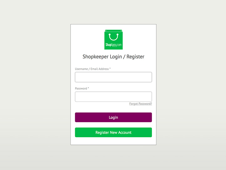 Shopappy vendor portal login