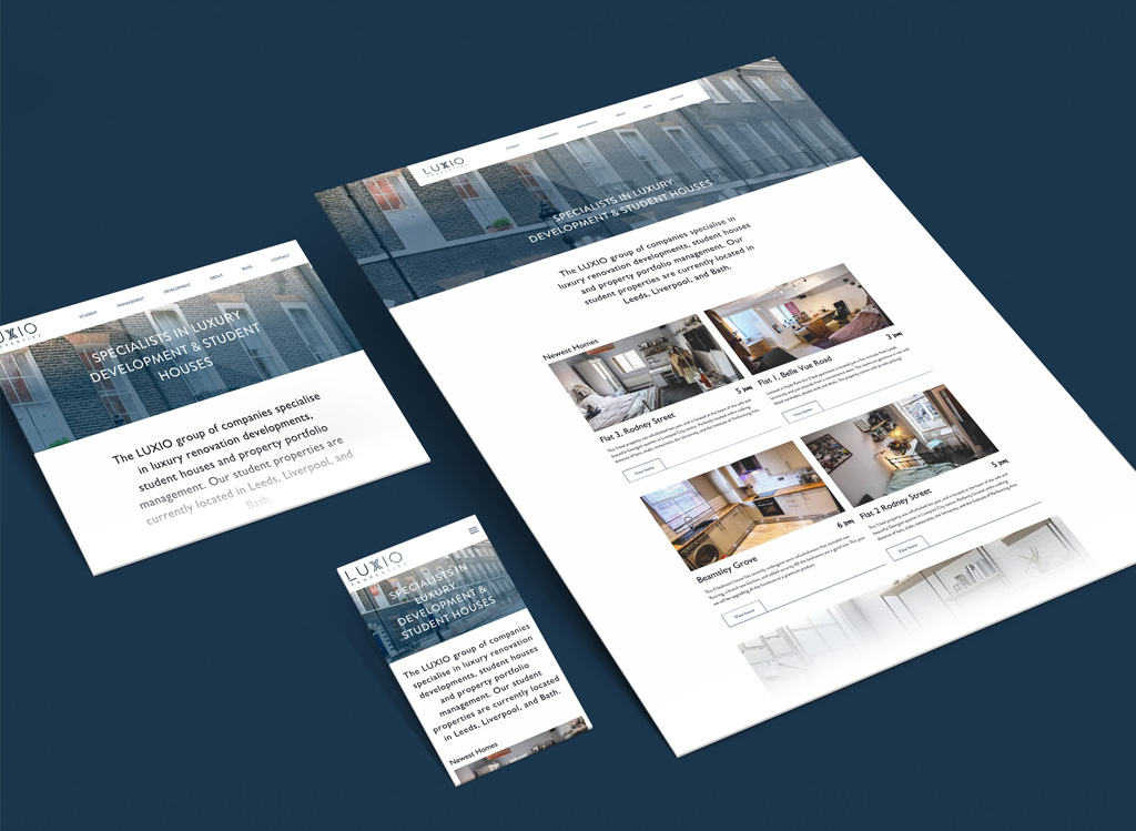 Luxio web design