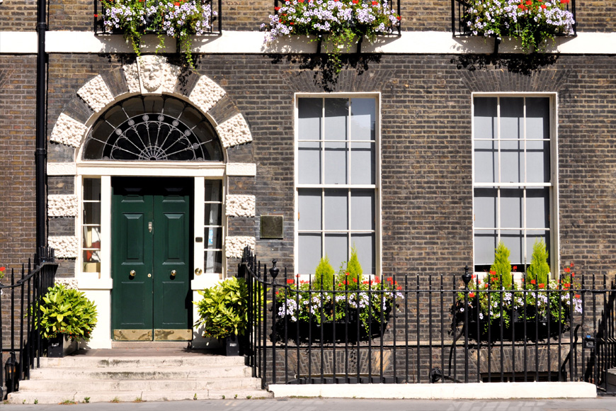 London-style house front