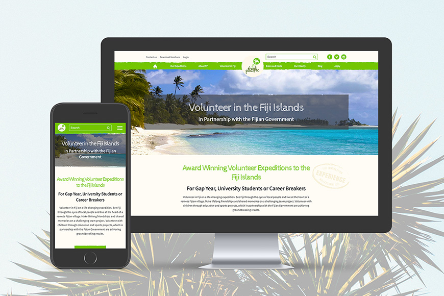 Think Pacific responsive design
