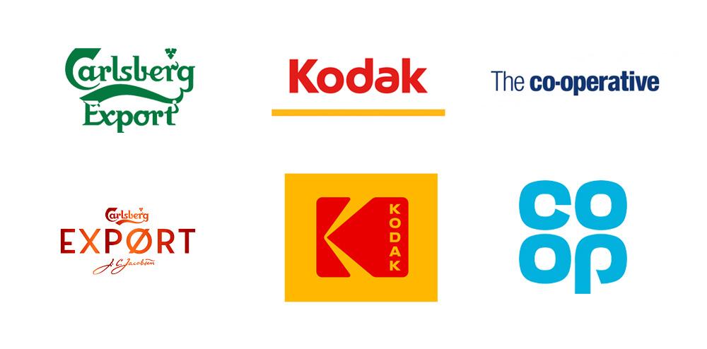 Carlsberg Export, Kodak, Coop rebrand